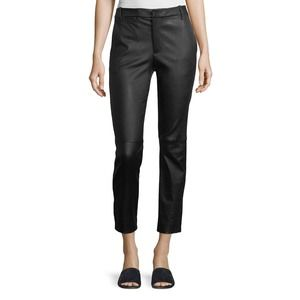 NWT Vince Black Coin Pocket Stretch-Leather Pant